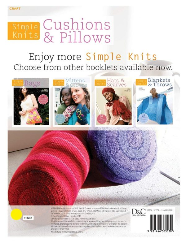 Simple Knits - Cushions and Pillows By Claire Crompton 2