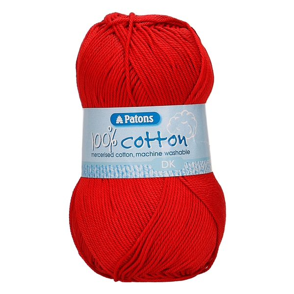 Patons 100% Cotton DK 100g - 02115 Red 1