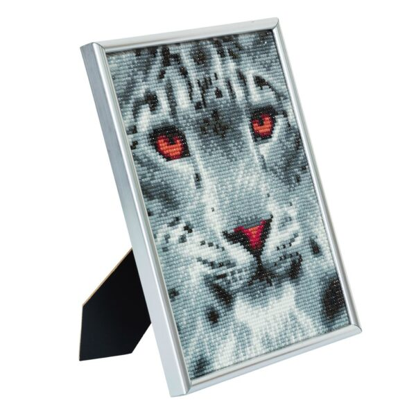 DIY Crystal Art Kits - Picture Frame Kit - Snow Leopard 2