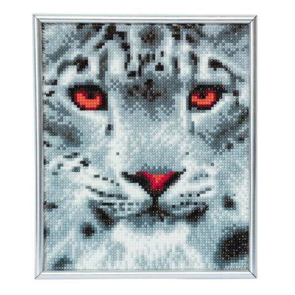 DIY Crystal Art Kits - Picture Frame Kit - Snow Leopard 1