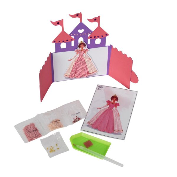 DIY Crystal Art Kits - Motif Kit - Pink Princess 2