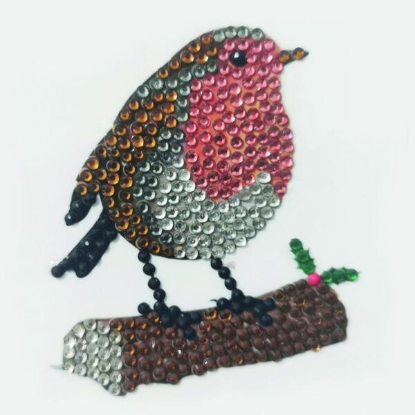 DIY Crystal Art Kits - Motif Kit - Winter Robin 1