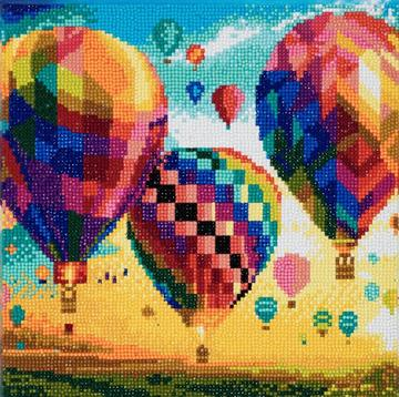 DIY Crystal Art Kits - Framed Canvas - Hot Air Balloons 1