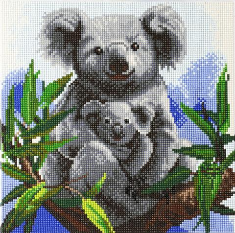 DIY Crystal Art Kits - Framed Canvas - Cuddly Koalas 1