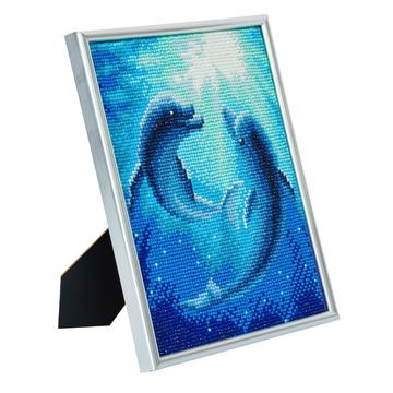 DIY Crystal Art Kits - Picture Frame Kit - Dolphin Dance 2