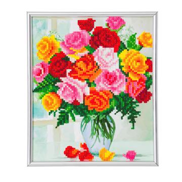DIY Crystal Art Kits - Picture Frame Kit - Flowers 1