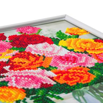 DIY Crystal Art Kits - Picture Frame Kit - Flowers 3