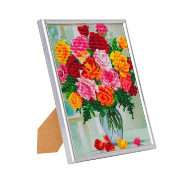 DIY Crystal Art Kits - Picture Frame Kit - Flowers 2