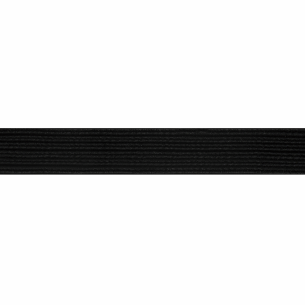 Braided Elastic - Black - 6mm x 2m 1