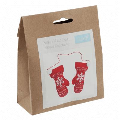 Trimits - Make Your Own Felt Decoration Kit - Christmas Mittens 1