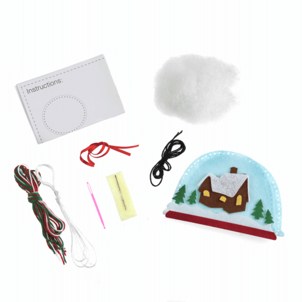 Trimits - Make Your Own Felt Decoration Kit - Snow Globe 2