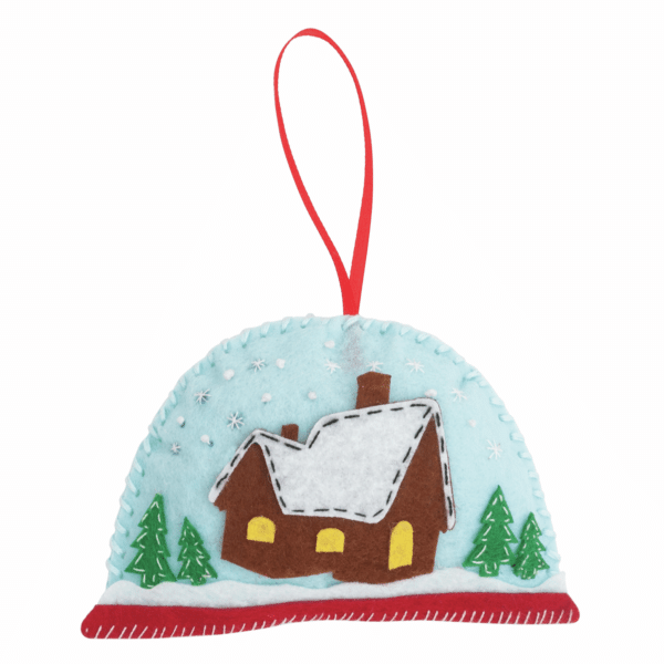 Trimits - Make Your Own Felt Decoration Kit - Snow Globe 3