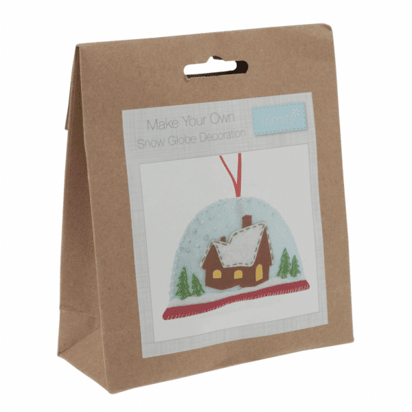 Trimits - Make Your Own Felt Decoration Kit - Snow Globe 1