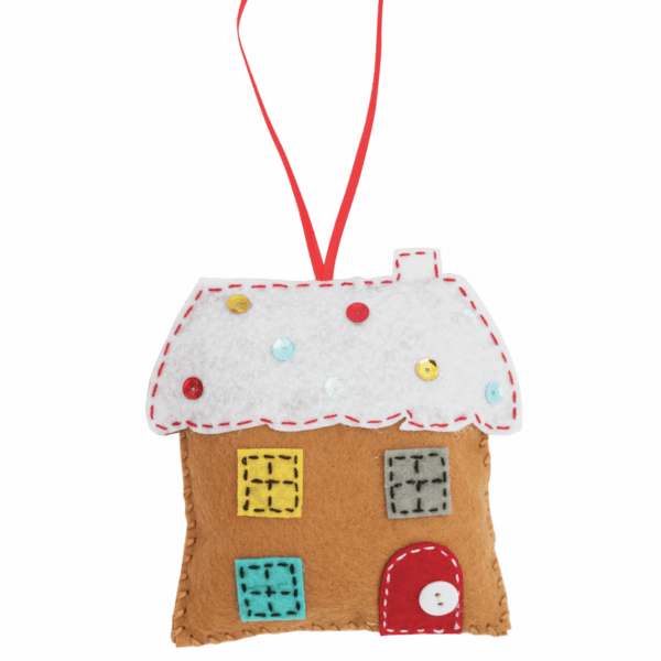 Trimits - Make Your Own Felt Decoration Kit - Gingerbread House 3