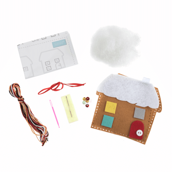 Trimits - Make Your Own Felt Decoration Kit - Gingerbread House 2