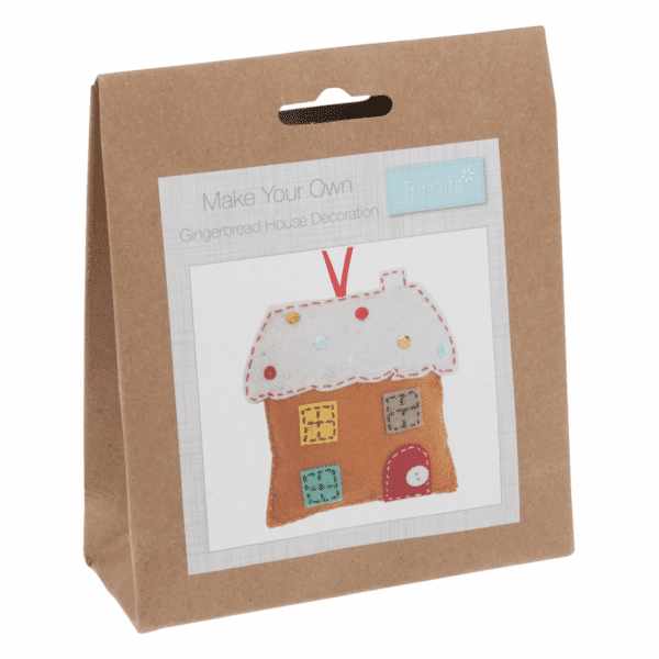 Trimits - Make Your Own Felt Decoration Kit - Gingerbread House 1