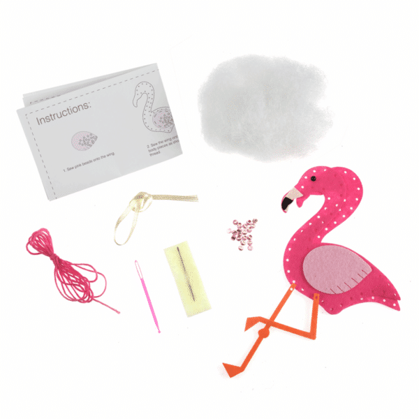 Trimits - Make Your Own Felt Decoration Kit - Flamingo 2