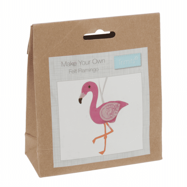 Trimits - Make Your Own Felt Decoration Kit - Flamingo 1