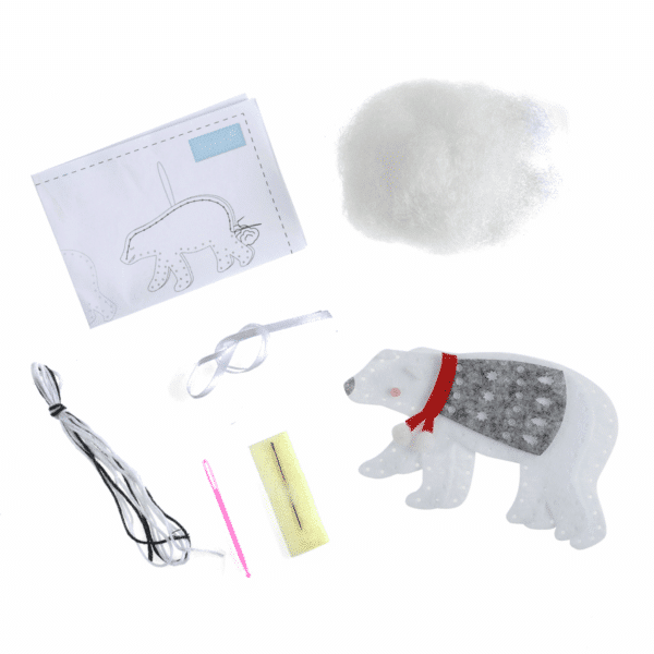 Trimits - Make Your Own Felt Decoration Kit - Polar Bear 2