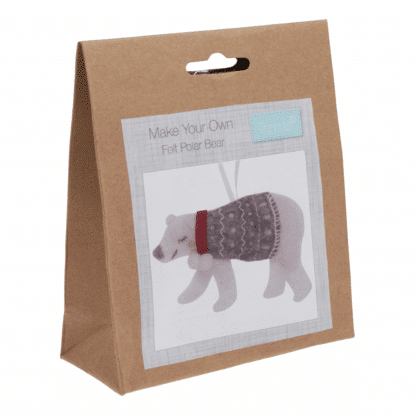 Trimits - Make Your Own Felt Decoration Kit - Polar Bear 1