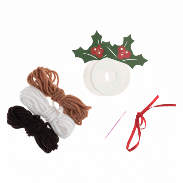 Trimits - Pom Pom Kit - Christmas Pudding 2