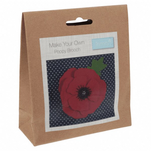 Trimits - Make Your Own Felt Decoration Kit - Poppy Brooch 1