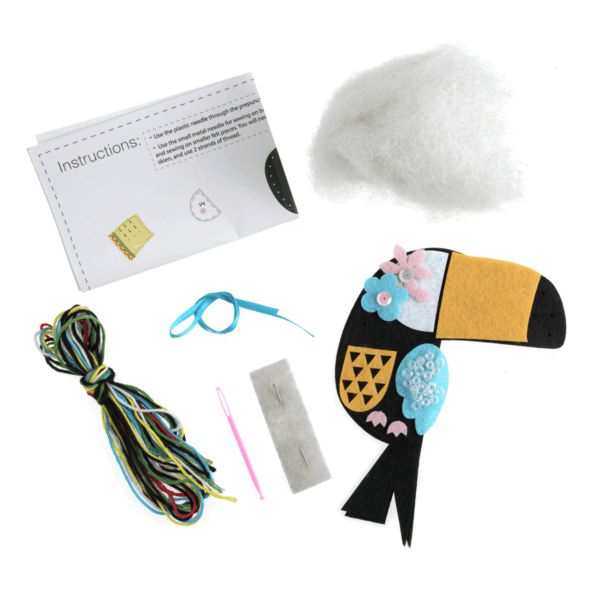 Trimits - Make Your Own Felt Decoration Kit - Toucan 2