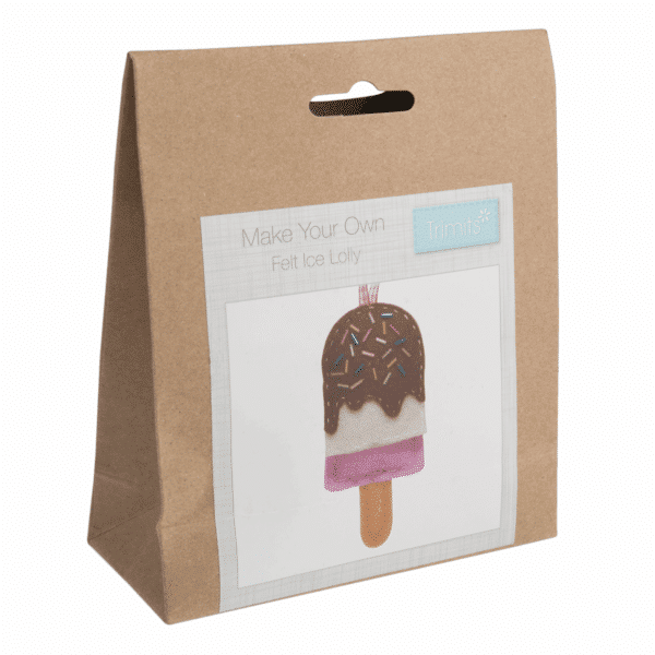 Trimits - Make Your Own Felt Decoration Kit - Ice Lolly 1
