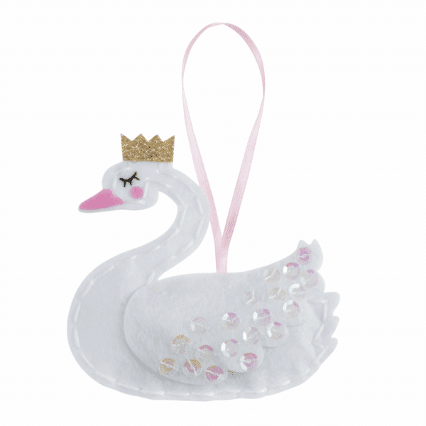 Trimits - Make Your Own Felt Decoration Kit - Swan With Crown 3
