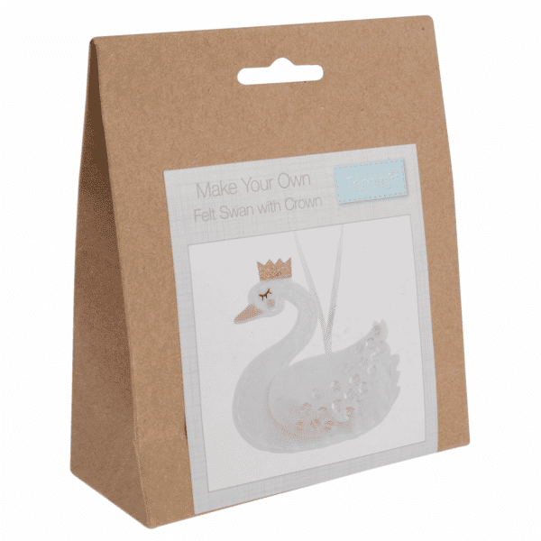 Trimits - Make Your Own Felt Decoration Kit - Swan With Crown 1