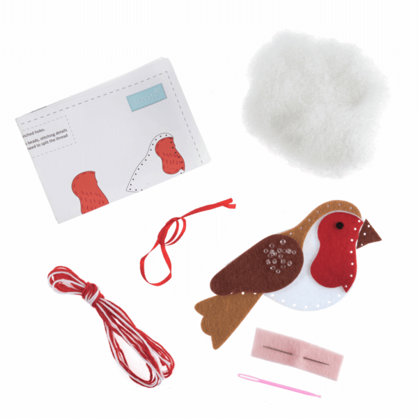 Trimits - Make Your Own Felt Decoration Kit - Robin 2