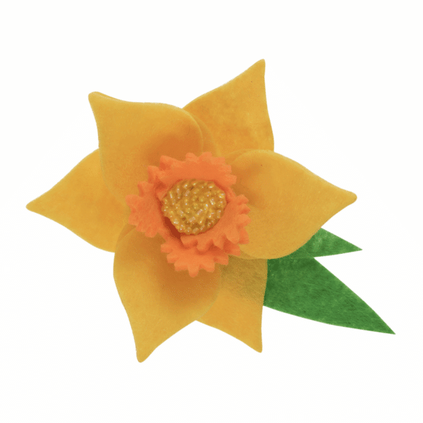 Trimits - Make Your Own Felt Decoration Kit - Daffodil Brooch 3