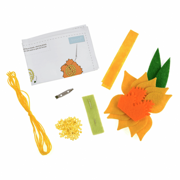 Trimits - Make Your Own Felt Decoration Kit - Daffodil Brooch 2