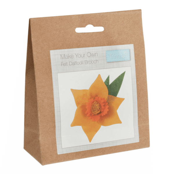 Trimits - Make Your Own Felt Decoration Kit - Daffodil Brooch 1