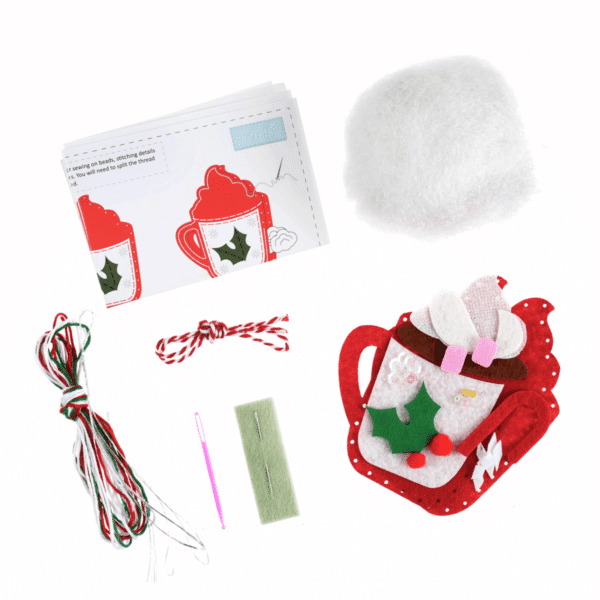 Trimits - Make Your Own Felt Decoration Kit - Hot Chocolate 2