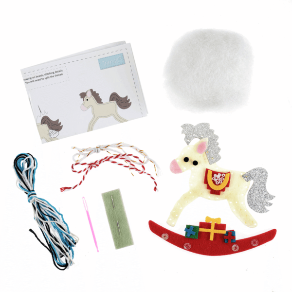 Trimits - Make Your Own Felt Decoration Kit - Rocking Horse 2