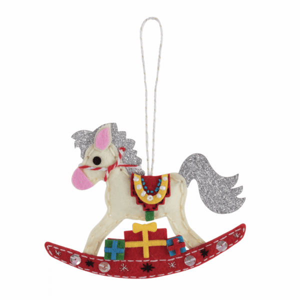 Trimits - Make Your Own Felt Decoration Kit - Rocking Horse 3