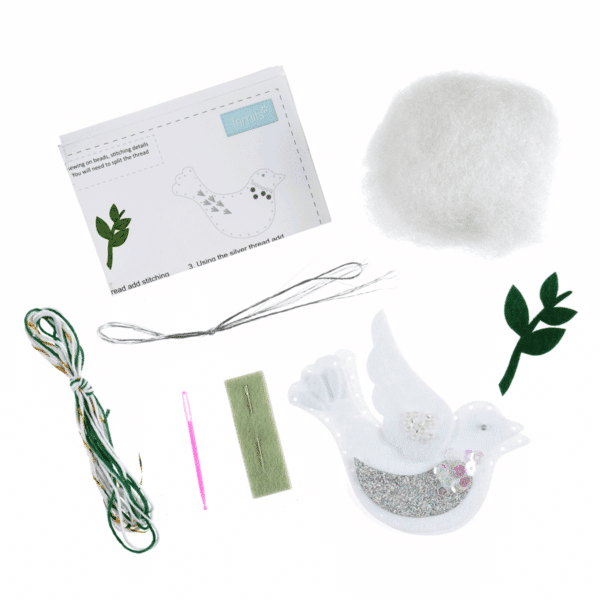 Trimits - Make Your Own Felt Decoration Kit - Dove 2