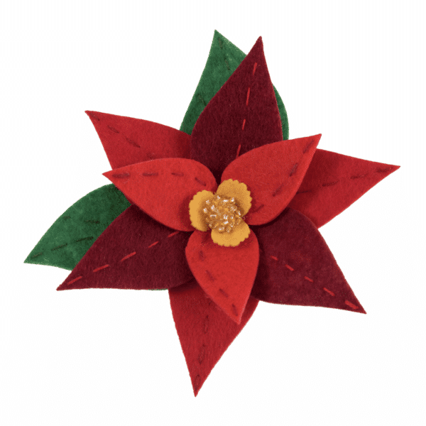 Trimits - Make Your Own Felt Decoration Kit - Poinsettia Brooch 3