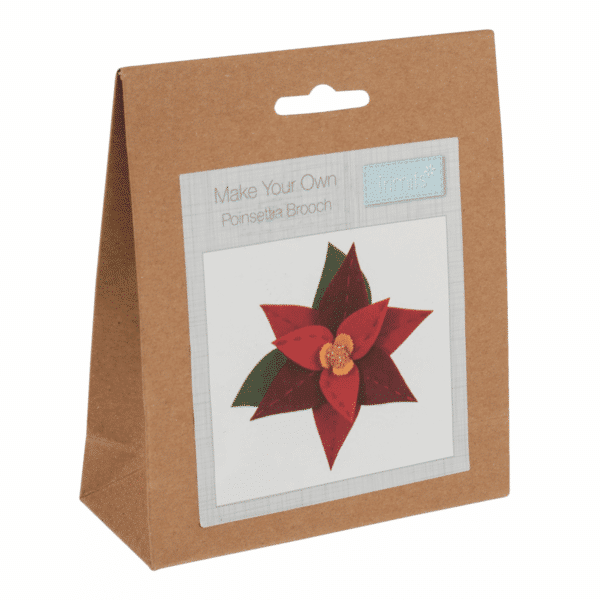 Trimits - Make Your Own Felt Decoration Kit - Poinsettia Brooch 1