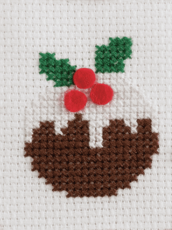Trimits - Cross Stitch Greeting Card Kit - Christmas Pudding 3