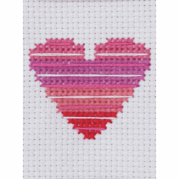 Trimits - Cross Stitch Greeting Card Kit - Heart 3