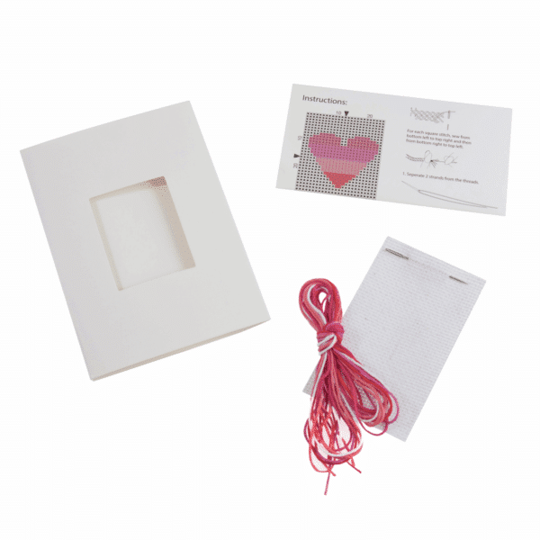 Trimits - Cross Stitch Greeting Card Kit - Heart 2