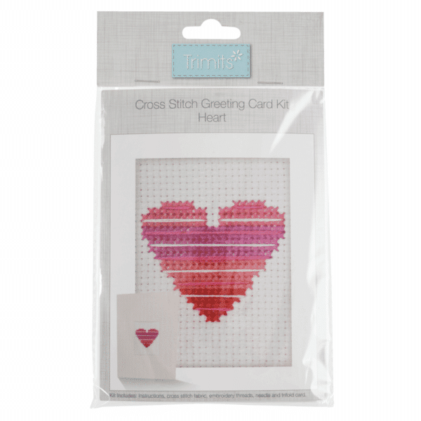 Trimits - Cross Stitch Greeting Card Kit - Heart 1