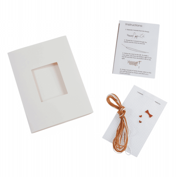 Trimits - Cross Stitch Greeting Card Kit - Gingerbread Man 2