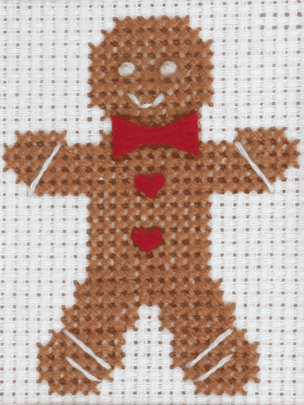 Trimits - Cross Stitch Greeting Card Kit - Gingerbread Man 3