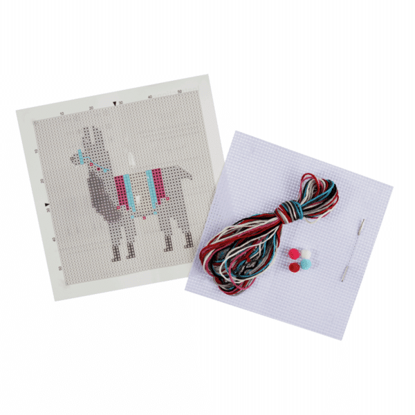 Trimits - Stitch Your Own Cross Stitch Kit - Llama 2