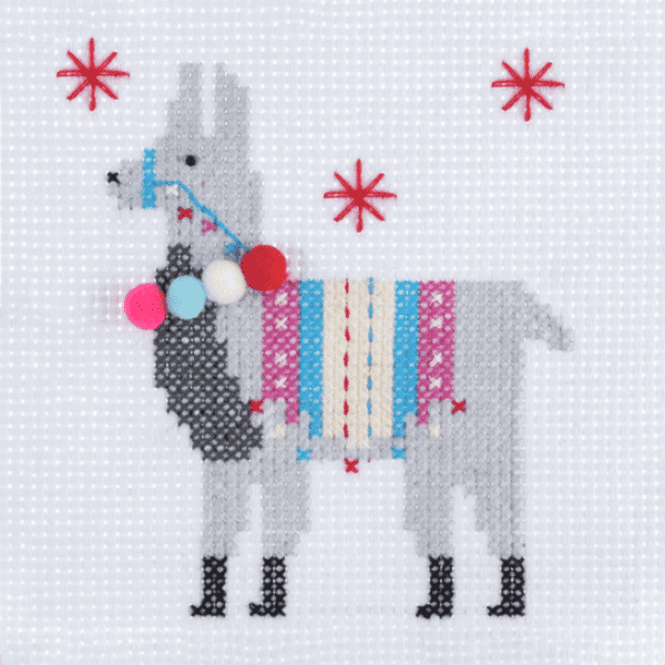 Trimits - Stitch Your Own Cross Stitch Kit - Llama 3