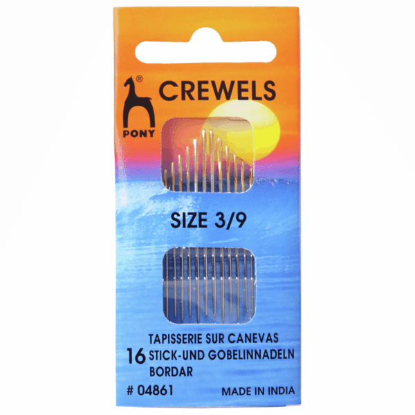 Pony - Hand Sewing Needles - Crewels - Gold Eye - Size 3/9 1