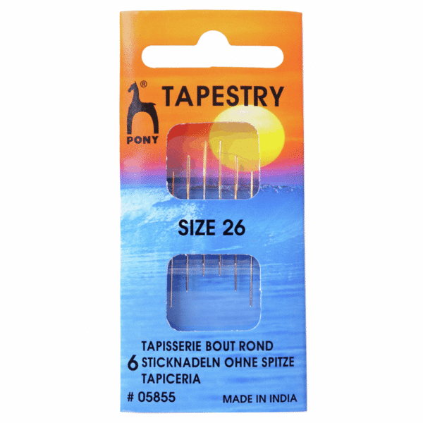 Pony - Hand Sewing Needles - Tapestry - Gold Eye - Size 26 1